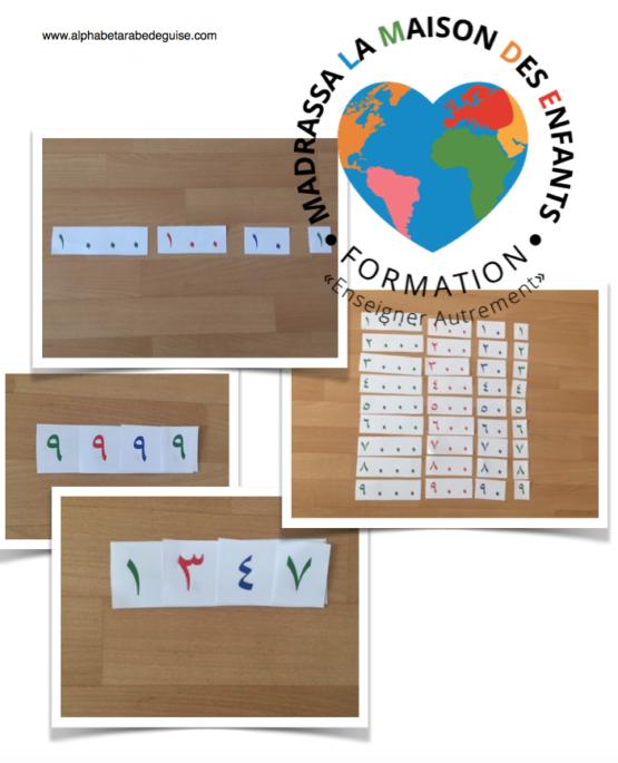 Les grands symboles arabe Montessori
