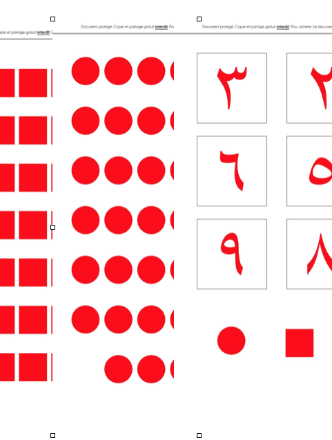 Pair impair Montessori arabe